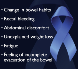 Warning signs for bowel cancer