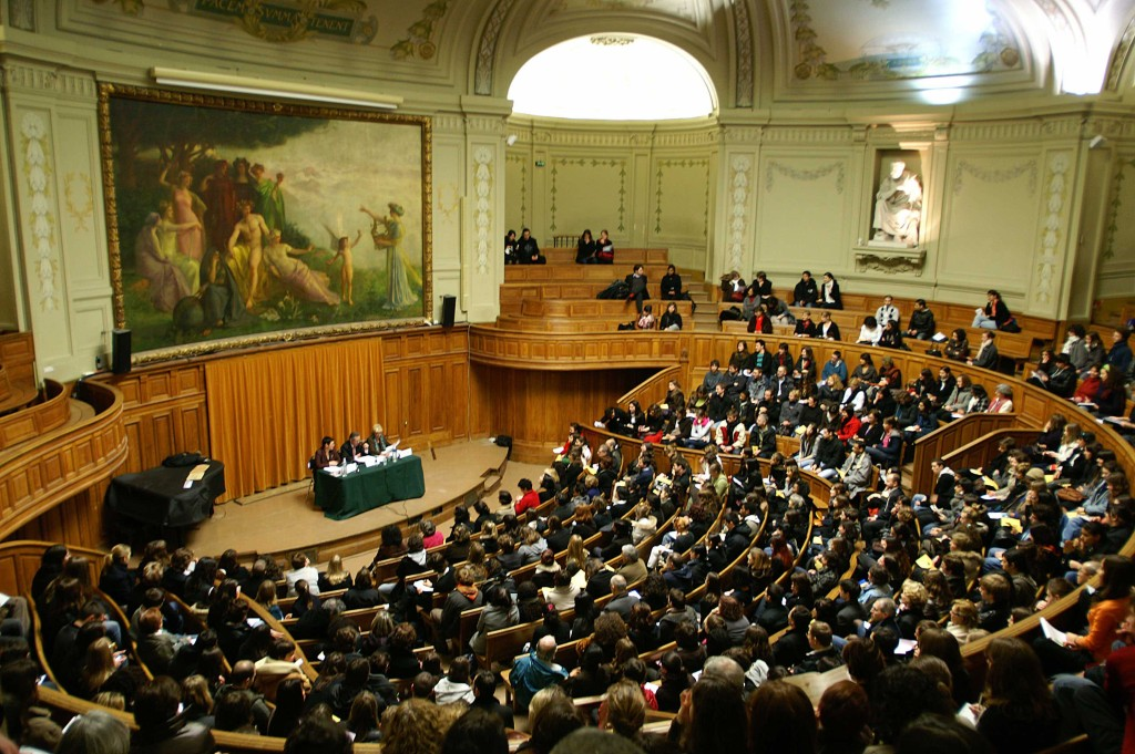 One of the amphitheatres at Paris-Sorbonne University