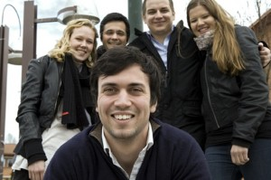 Matt Burton (UK), front, with Anna-Lena (Germany), Vitor Teixeira (Portugal), Lauri Hellström (Sweden) and Dhana Irsara (from Italy)