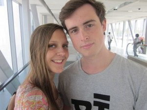 UK student George Leech and his girlfriend, Katija, during their semester in Russia